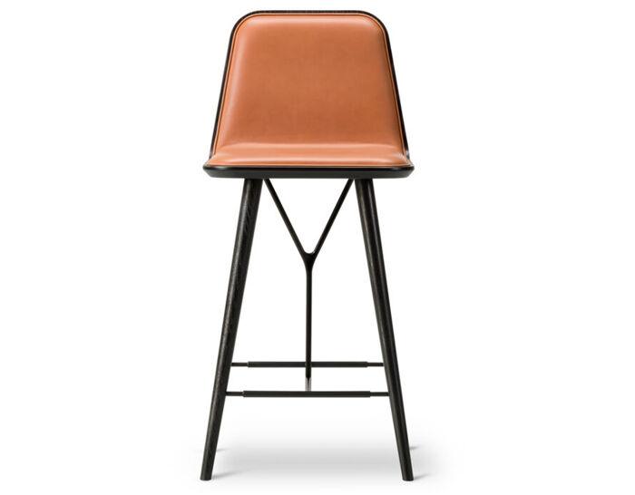 spine wood base stool with back