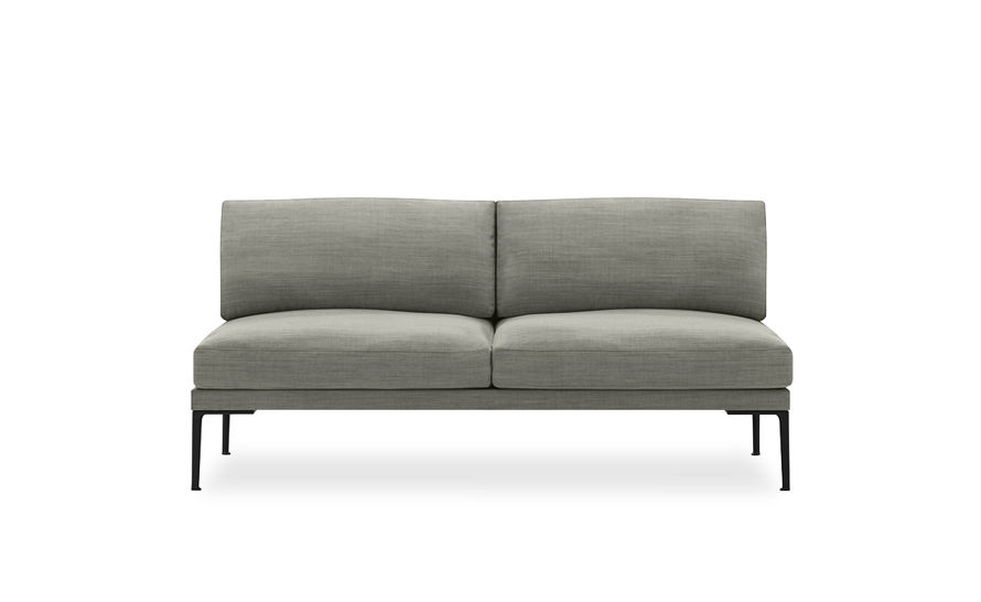 steeve two seat sofa without arms