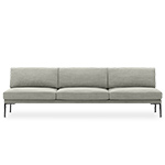 steeve 3 seat sofa without arms - Altherr & Molina Lievore - arper