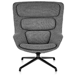 striad™ high back lounge chair with 4 star base  -