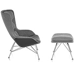 striad™ high back lounge chair & ottoman with wire base  -