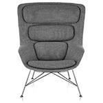 striad™ high back lounge chair with wire base  -