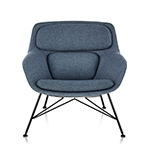 striad™ low back lounge chair with wire base  -