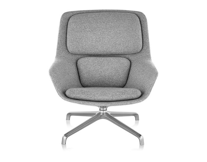 striad™ mid back lounge chair with 4 star base