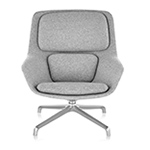striad™ mid back lounge chair with 4 star base  -