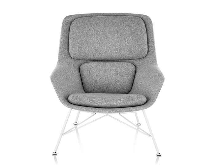 striad™ mid back lounge chair with wire base