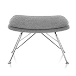 striad ottoman with wire base  -