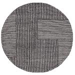 stripe rug round  -