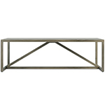 strut square wood coffee table  -