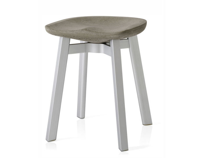 su small stool with eco concrete seat