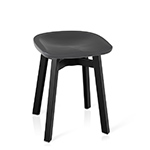 su small stool with plastic seat  - emeco