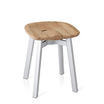 su small stool with wood seat  - emeco