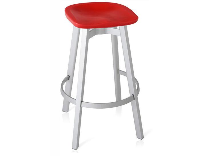 su stool with plastic seat