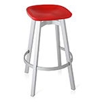su stool with plastic seat  -