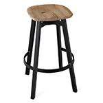 su stool with wood seat  -