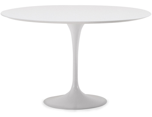 saarinen dining table - white laminate