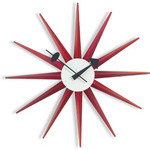 george nelson sunburst clock red  -