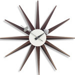 george nelson sunburst clock walnut  -