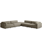 sunday backless l sectional sofa  - blu dot