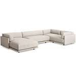 sunday l sectional sofa with chaise  - blu dot