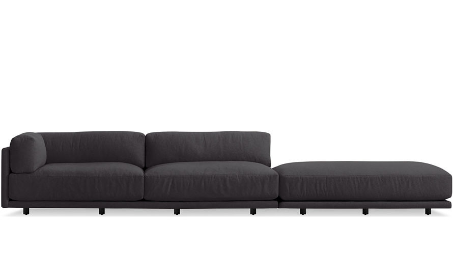 Captivating Sunday Long And Low Sectional Sofa