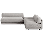 sunday small l sectional sofa  - blu dot