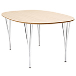 super-elliptical table  - Fritz Hansen