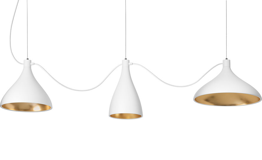 swell 3 string mixed pendant lamps