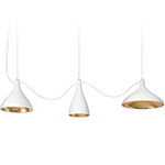 swell 3 string mixed pendant lamps  -