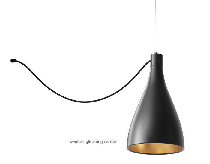 Swell single string pendant lamp hivemodern swell single string pendant lamp aloadofball Image collections
