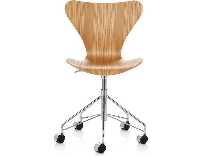 series 7 swivel side chair wood veneer