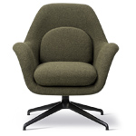swoon petit lounge with swivel base  -