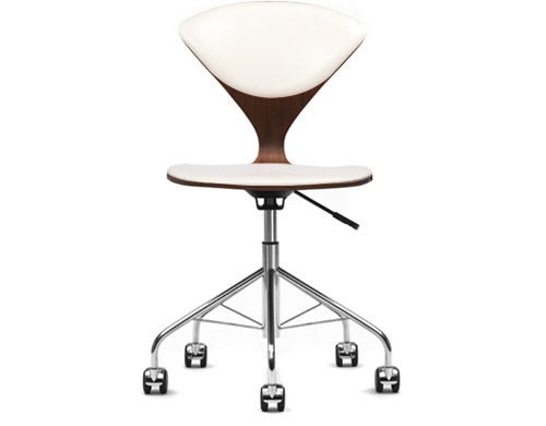 cherner task chair with upholstered seat & back