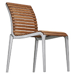 teak stacking chair  -