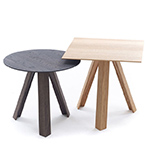 tre side table with wood top  - arco