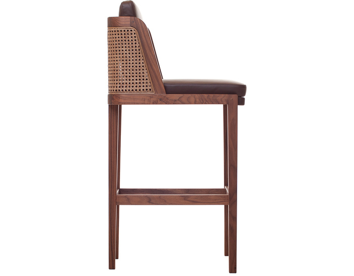 throne barstool with rattan