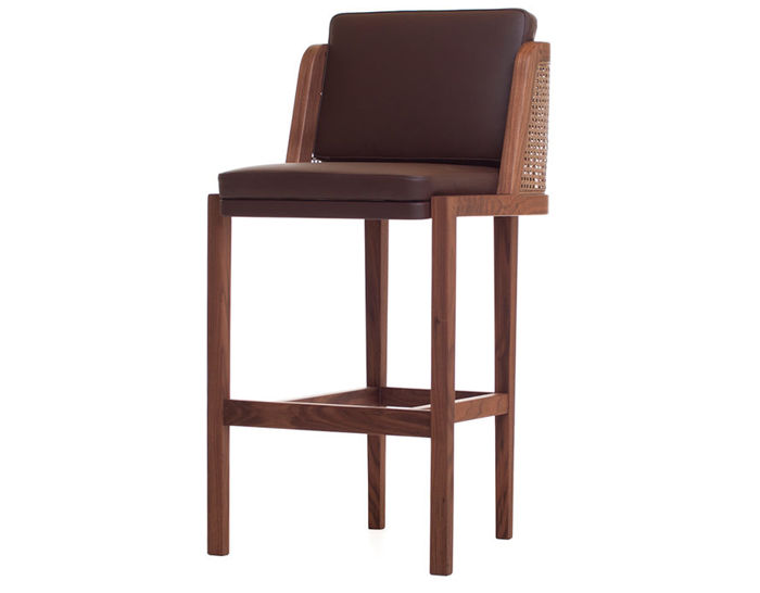 throne breakfast barstool with rattan