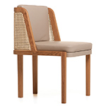 throne dining chair 272 with rattan  -