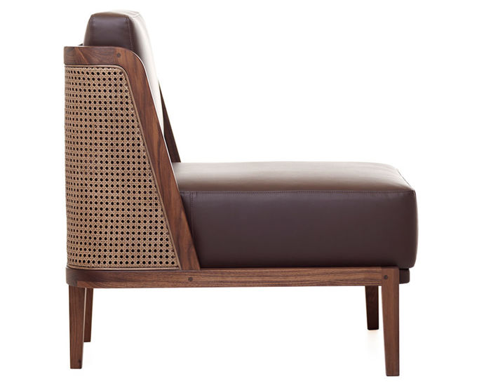 throne lounge chair 270 with rattan