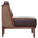 throne lounge chair 270 with rattan  -
