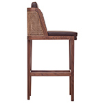 throne barstool with rattan  -