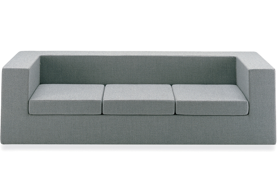 throw-away three seat sofa