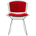 bertoia side chair with back pad & seat cushion  -
