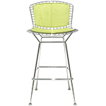 bertoia stool with back pad & seat cushion - Harry Bertoia - Knoll