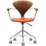 cherner task arm chair with upholstered seat  -