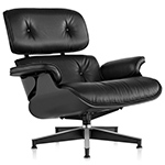 ebony eames® lounge chair without ottoman  -