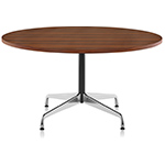 eames round table with veneer top & edge  -