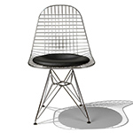eames® wire chair with seat pad  -