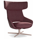 kalm swivel metal base lounge chair  -