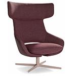 kalm swivel metal base lounge chair  -